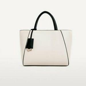 Zara City Bag Satchel with Crossbody Strap
